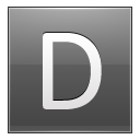 Letter D grey icon
