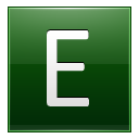 Letter E dg icon