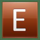 Letter E orange icon