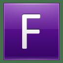 Letter F violet icon