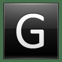 Letter G black icon