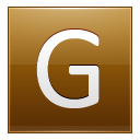 Letter-G-gold icon
