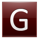 Letter G red icon