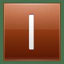 Letter I orange icon