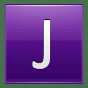 Letter J violet icon