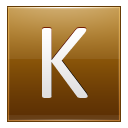 Letter K gold icon