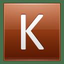 Letter K orange icon