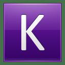Letter K violet icon