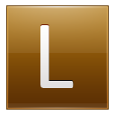 Letter L gold icon