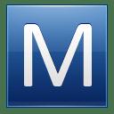 Letter M blue icon