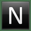Letter N black icon