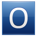 Letter O blue icon