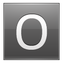 Letter O grey icon