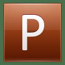 Letter P orange icon