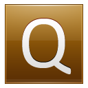 Letter Q gold icon