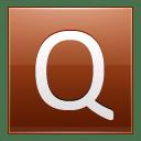 Letter Q orange icon