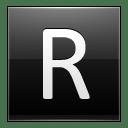 Letter R black icon
