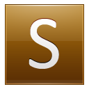 Letter S gold icon