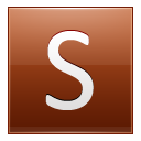Letter S orange icon