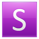 Letter S pink icon