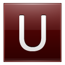 Letter U red icon