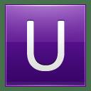 Letter U violet icon
