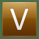 Letter V gold icon
