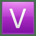 Letter V pink icon