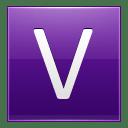 Letter V violet icon