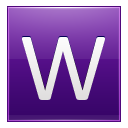 Letter W violet icon