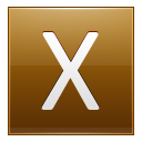 Letter X gold icon