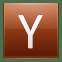 Letter Y orange icon