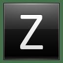 Letter Z black icon