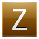 Letter Z gold icon