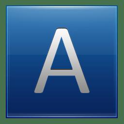 Letter A blue icon