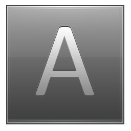 Letter A grey icon