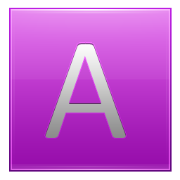 Letter A pink icon