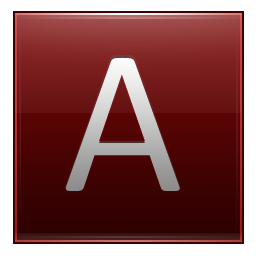 Letter A red icon