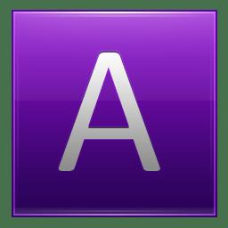 Letter A violet icon