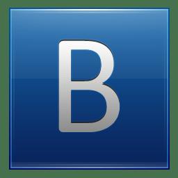 Letter B blue icon