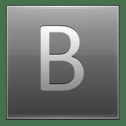 Letter B grey icon
