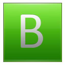 Letter B lg icon