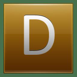 Letter D gold icon