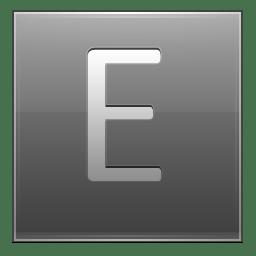 Letter E grey icon