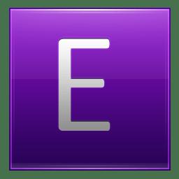 Letter E violet icon