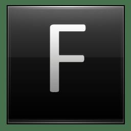 Letter F black icon