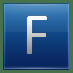 Letter F blue icon