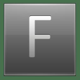 Letter F grey icon