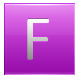 Letter F pink icon