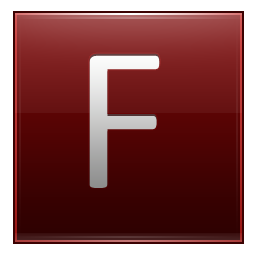 Letter F red icon
